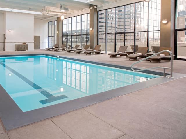 Downtown Denver Indoor pool at Grand Hyatt Denver