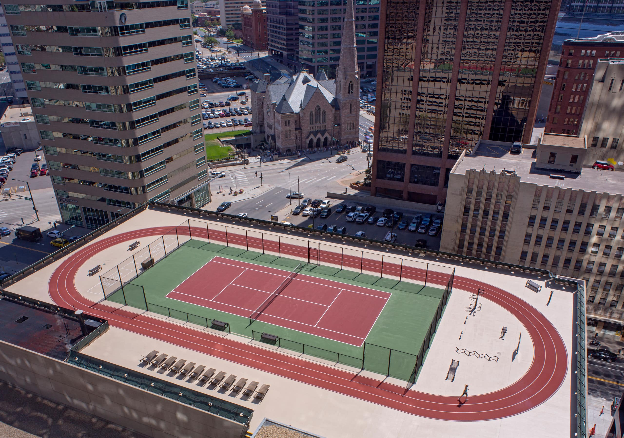 Stylish Downtown Denver Hotel Grand Hyatt Tennis Court Diagram With Measurements Pictures To Pin On Pinterest
