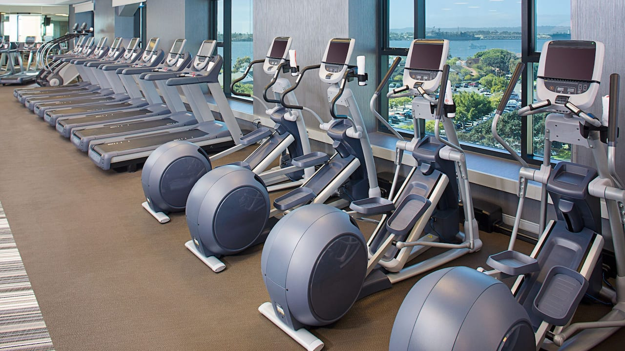 Hotel gym at Grand Hyatt San Diego