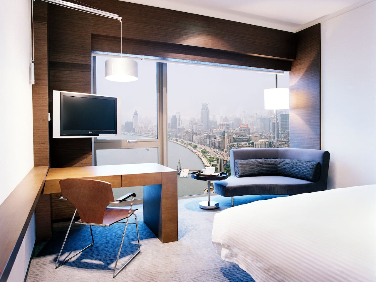 Shang residential suite with desk