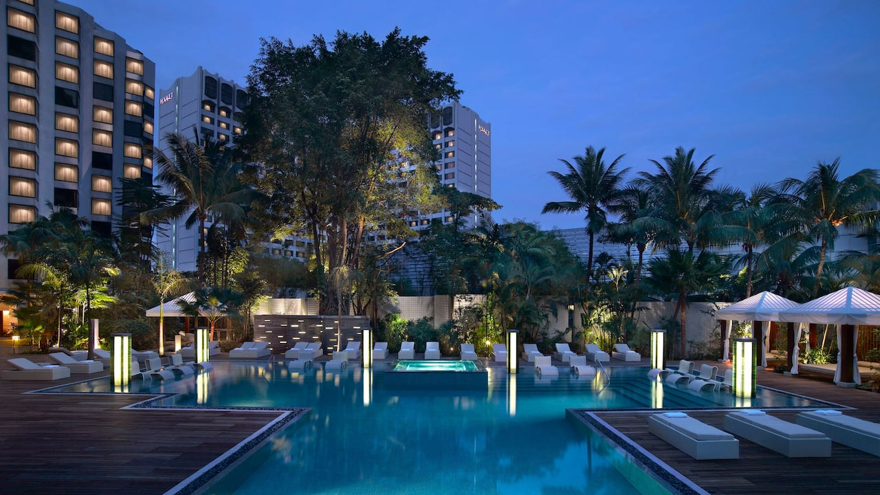 Pools at the Grand Hyatt Singapore Hotel, Orchard Road Singapore