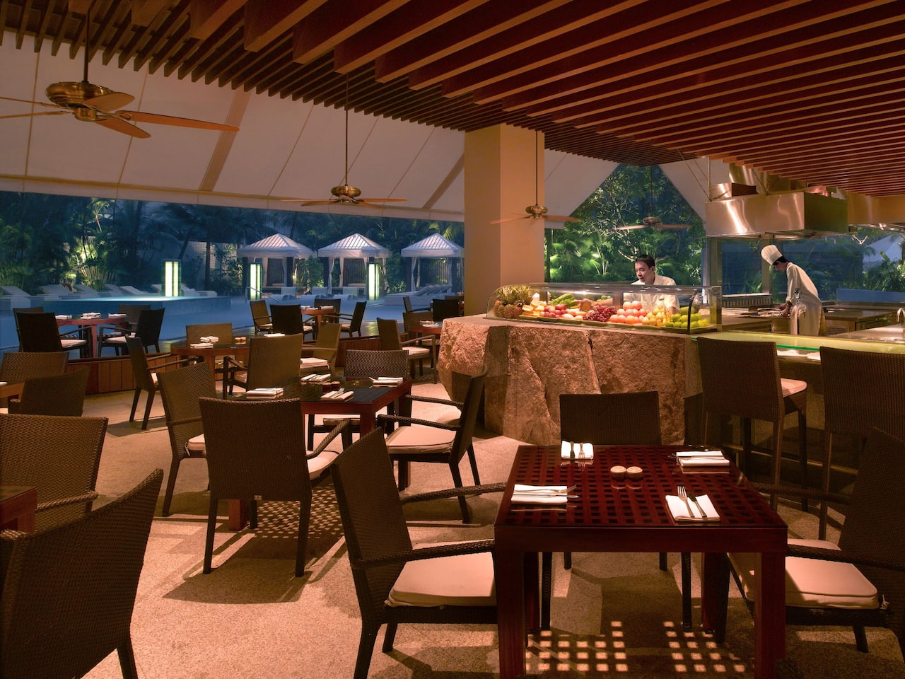 Oasis Restaurant The Grand Hyatt, Singapore best places in Orchard for a BBQ dinner