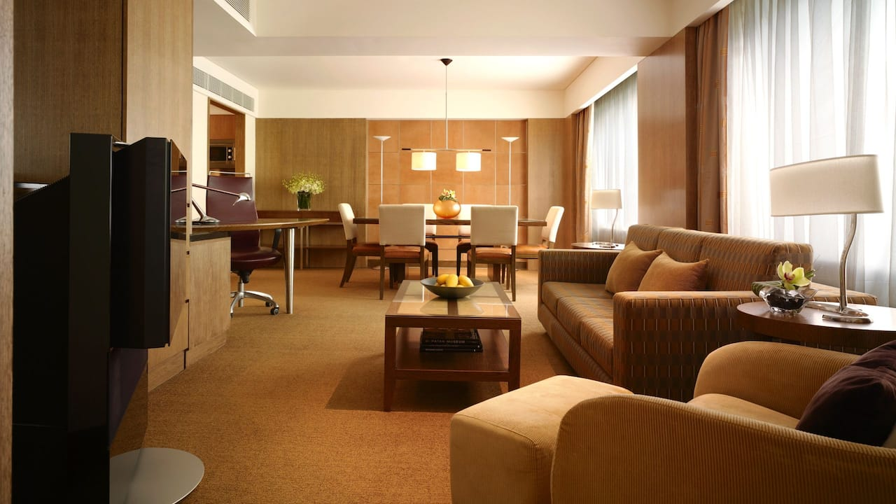 Grand Suite 1 King bed, a luxurious living room & Club access, Grand Hyatt Singapore