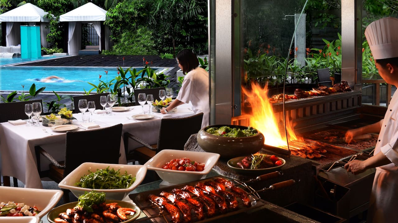 Oasis BBQ Restaurant at The Grand Hyatt Singapore
