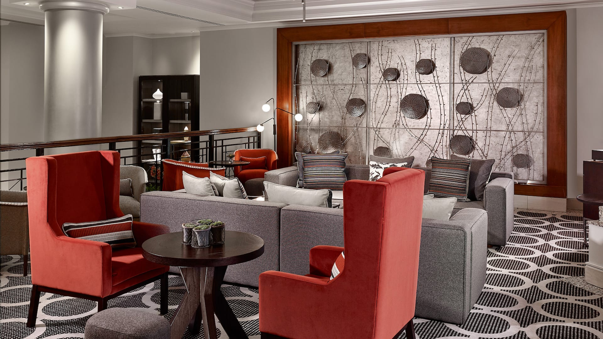 Lobby Area at Hyatt Regency Birmingham with comfy chairs and sofas