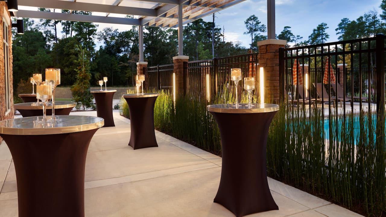 outdoor guest deck