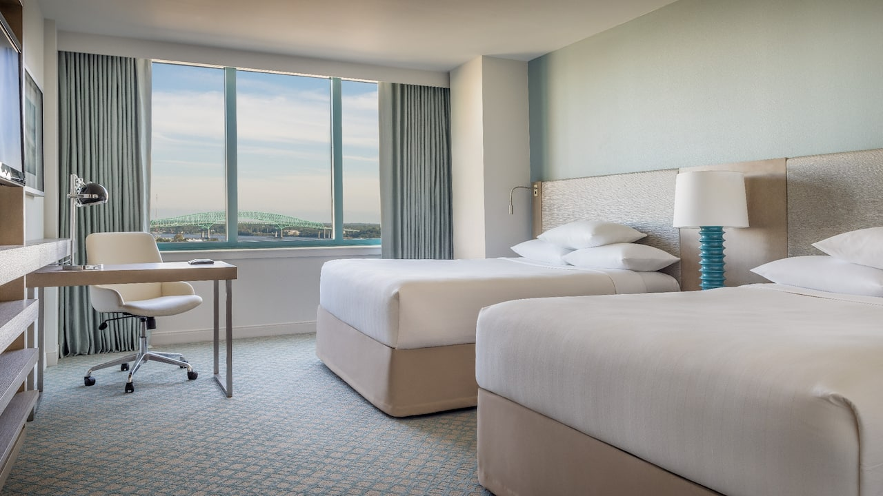 2 Queen River View Room Hyatt Regency Jacksonville Riverfront