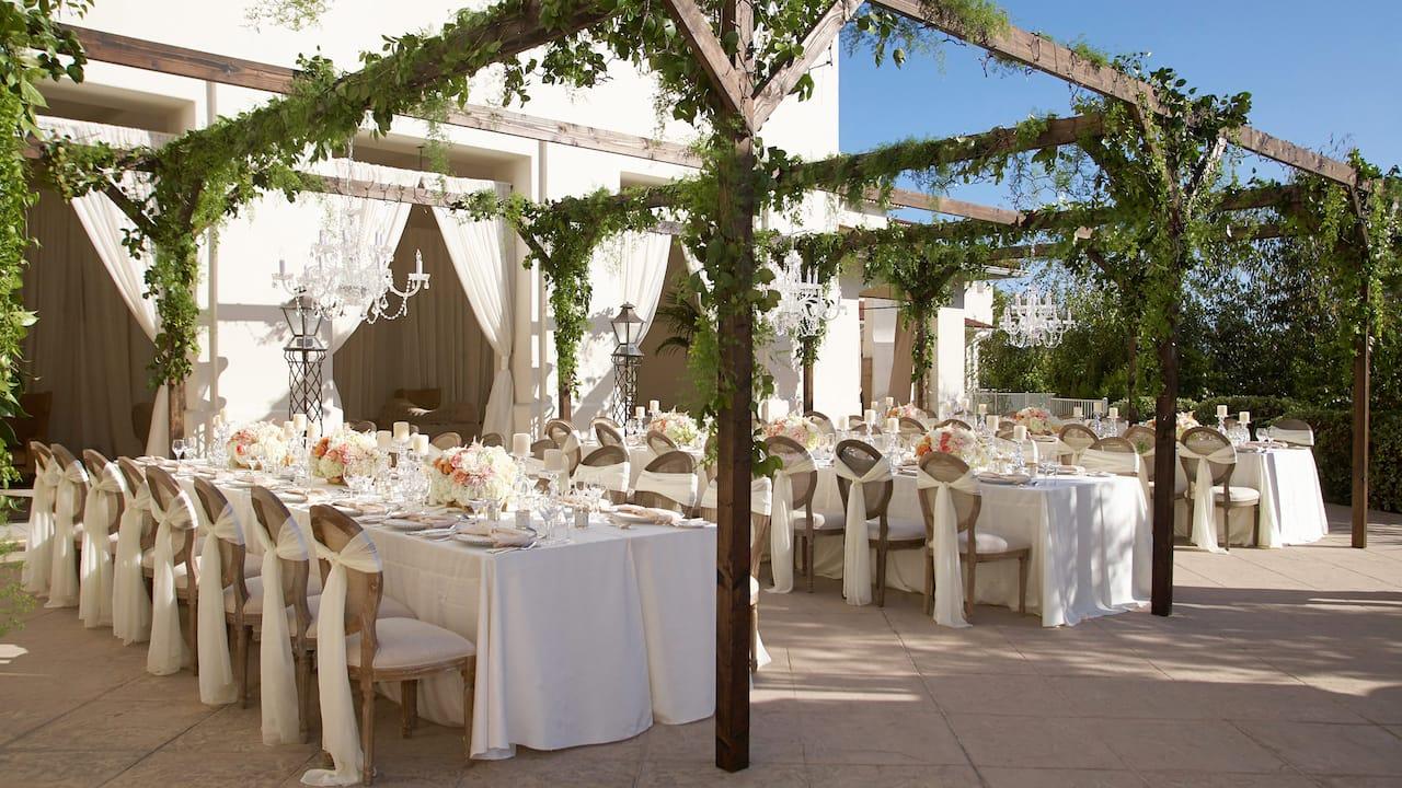 Park Hyatt Aviara Resort Outdoor Wedding Set Up