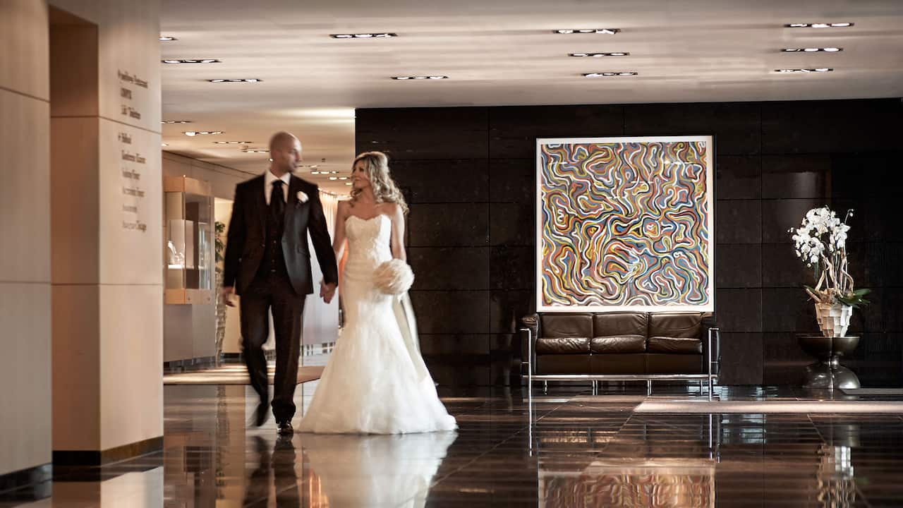 Wedding Couple at Park Hyatt Zurich