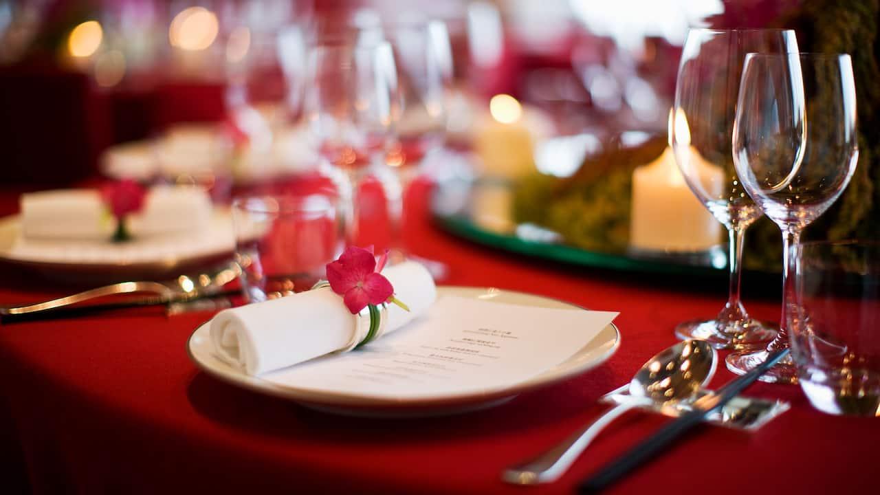 Wedding Salon Setup Detail
