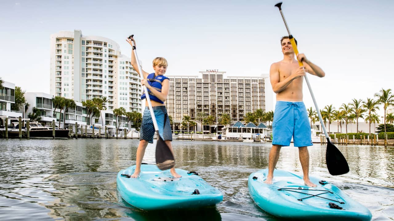 Paddle Boating at Hyatt Regency Sarasota