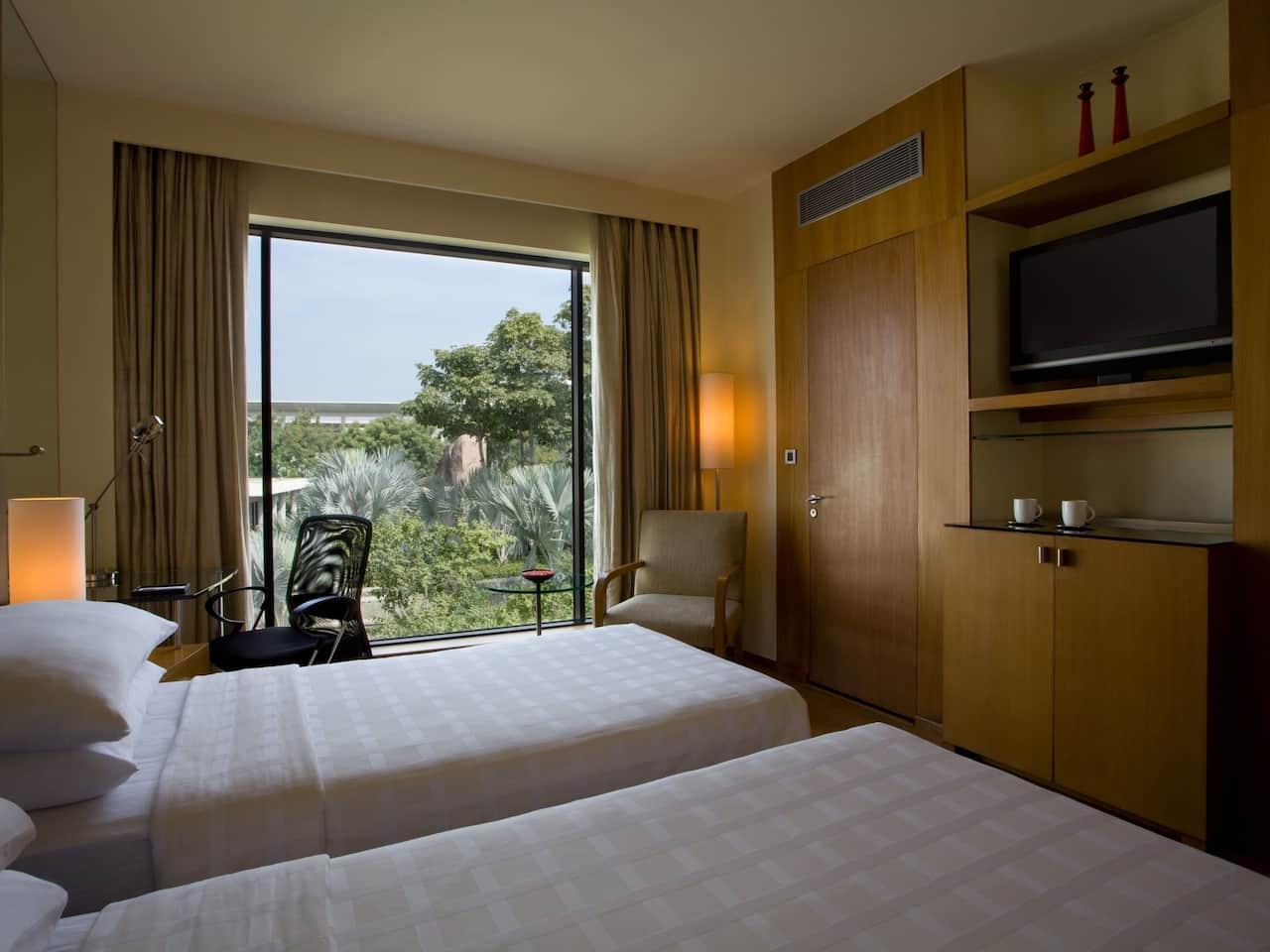 Bathroom of Room with Balcony at Hyatt Gachibowli
