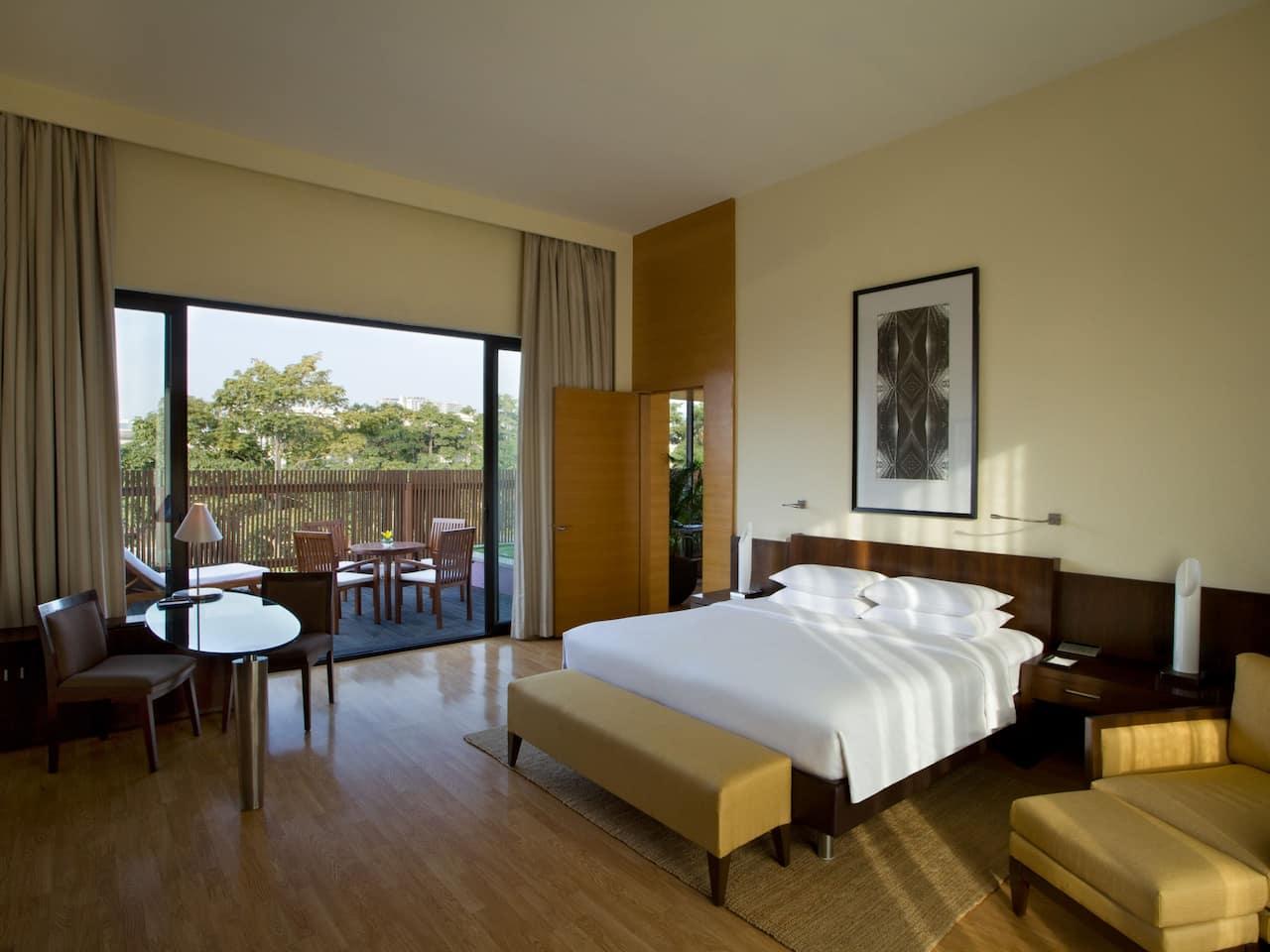 Guest room with Balcony at Hyatt Gachibowli
