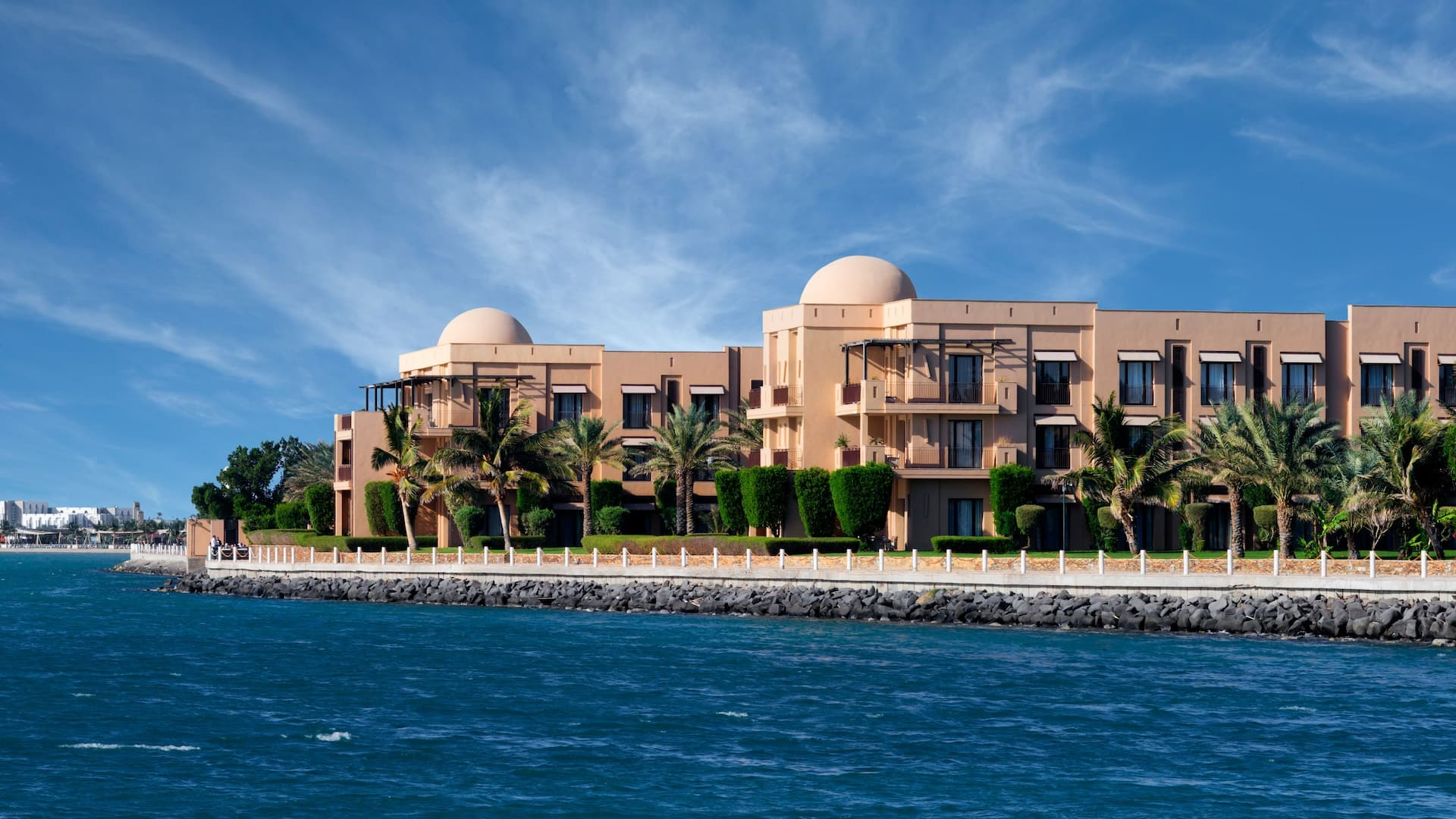 Park Hyatt Jeddah exterior from water