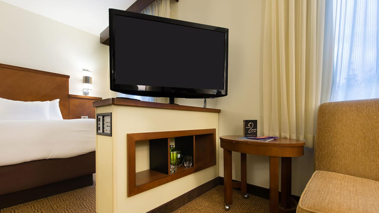 Accessible TV and Bed