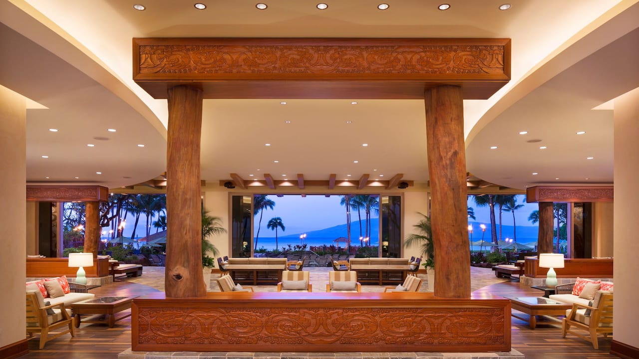 Lobby Towards Beach