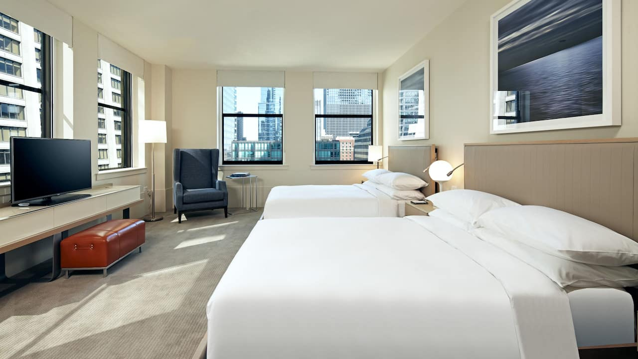Deluxe Double Queen Room at the Hyatt Chicago