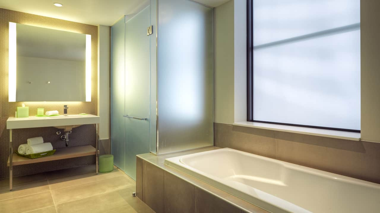 Deluxe Guest Bath at Hyatt Centric Chicago