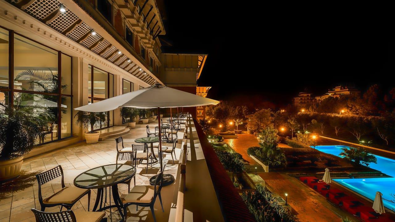 The Lounge Terrace at Hyatt Regency Kathmandu