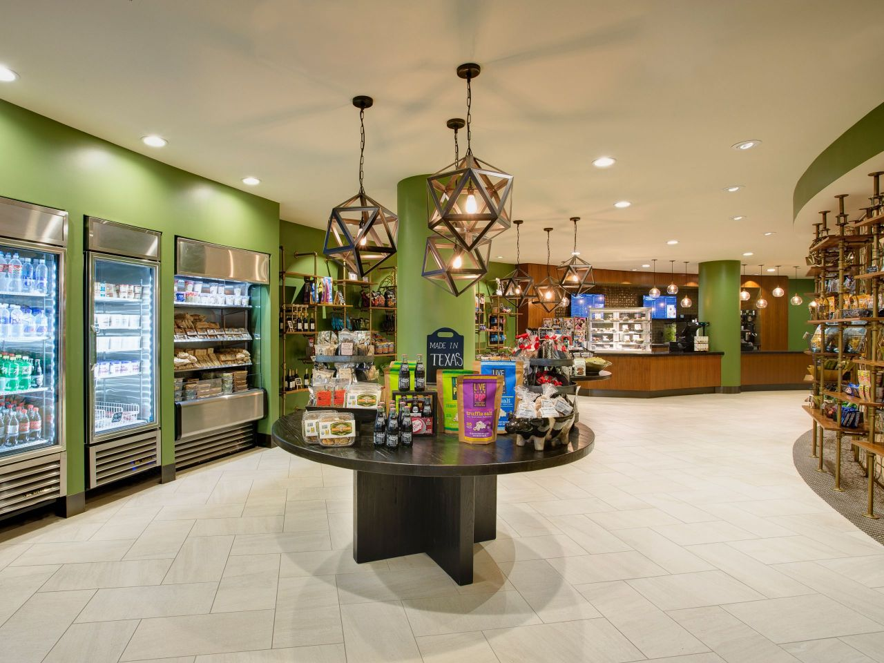 Beverage refrigerators and retail displays in store