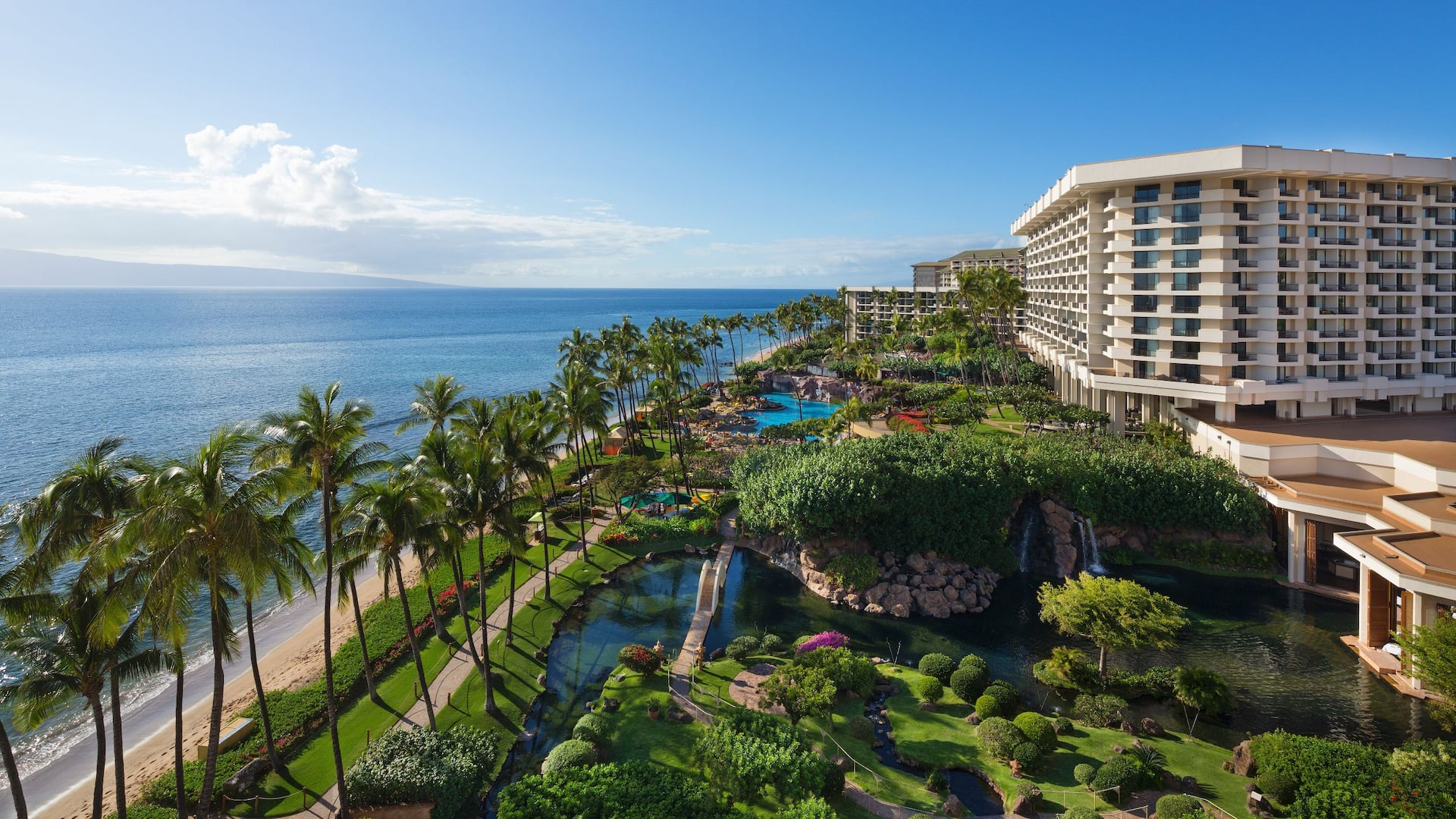 Aerial Daytime Hyatt Regency Maui Resort and Spa