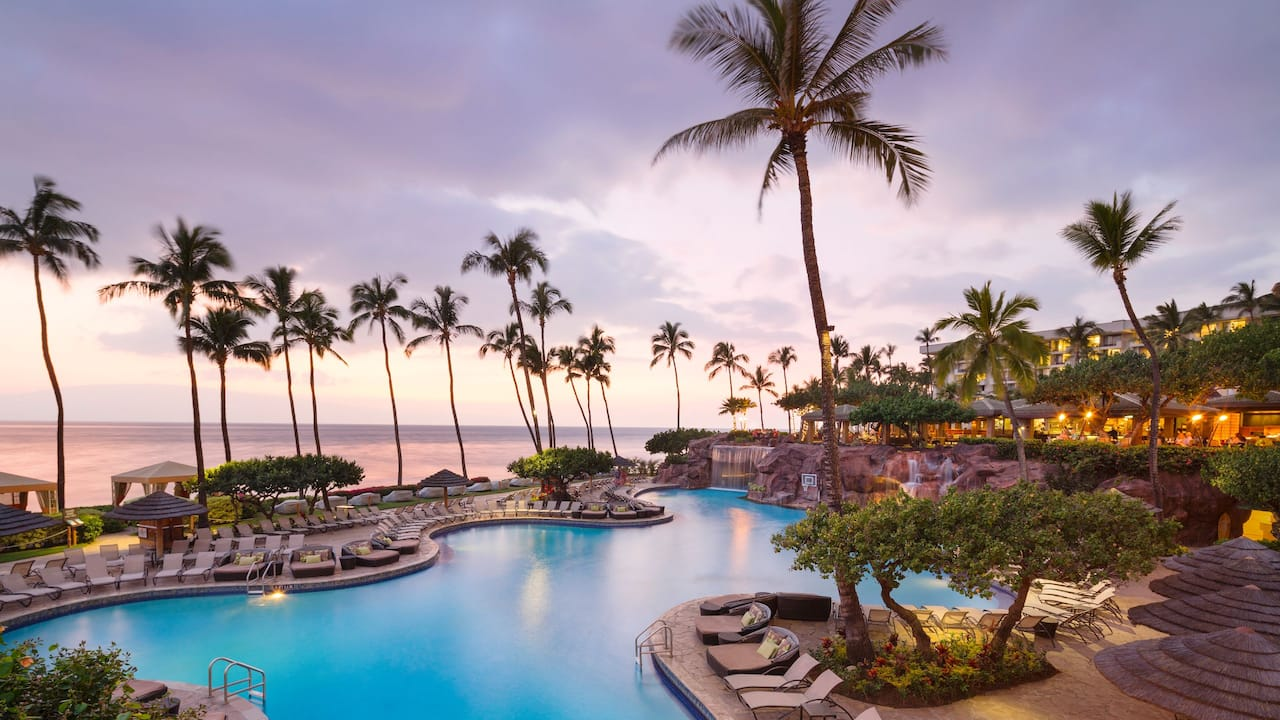 Oceanfront pool at Hyatt Regency Maui Resort and Spa