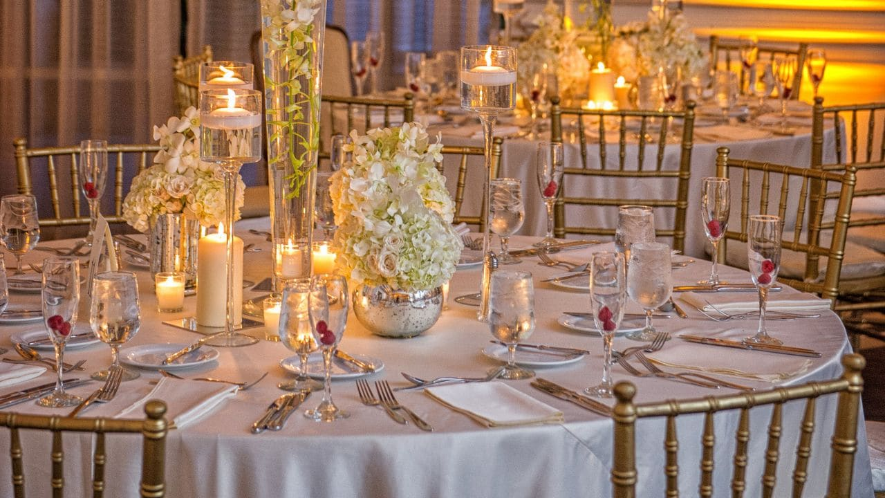 Coral Gables Wedding setup
