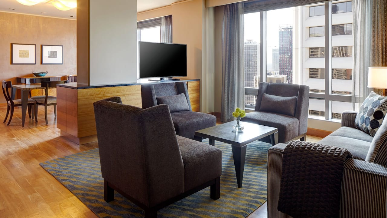 Grand Hyatt Seattle Vesuvio Suite Living Area