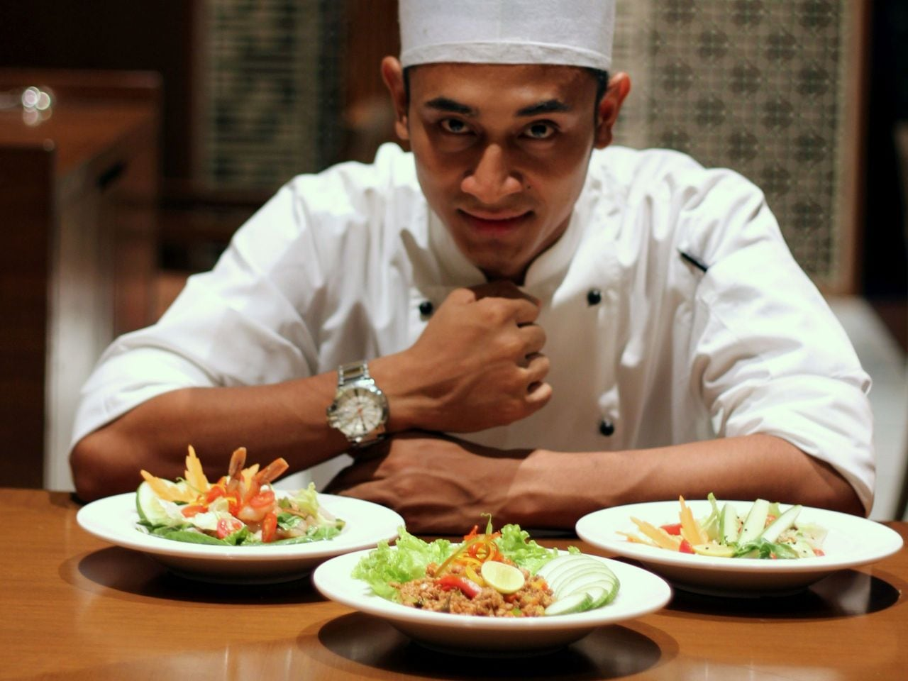 Chef Prakash at Table