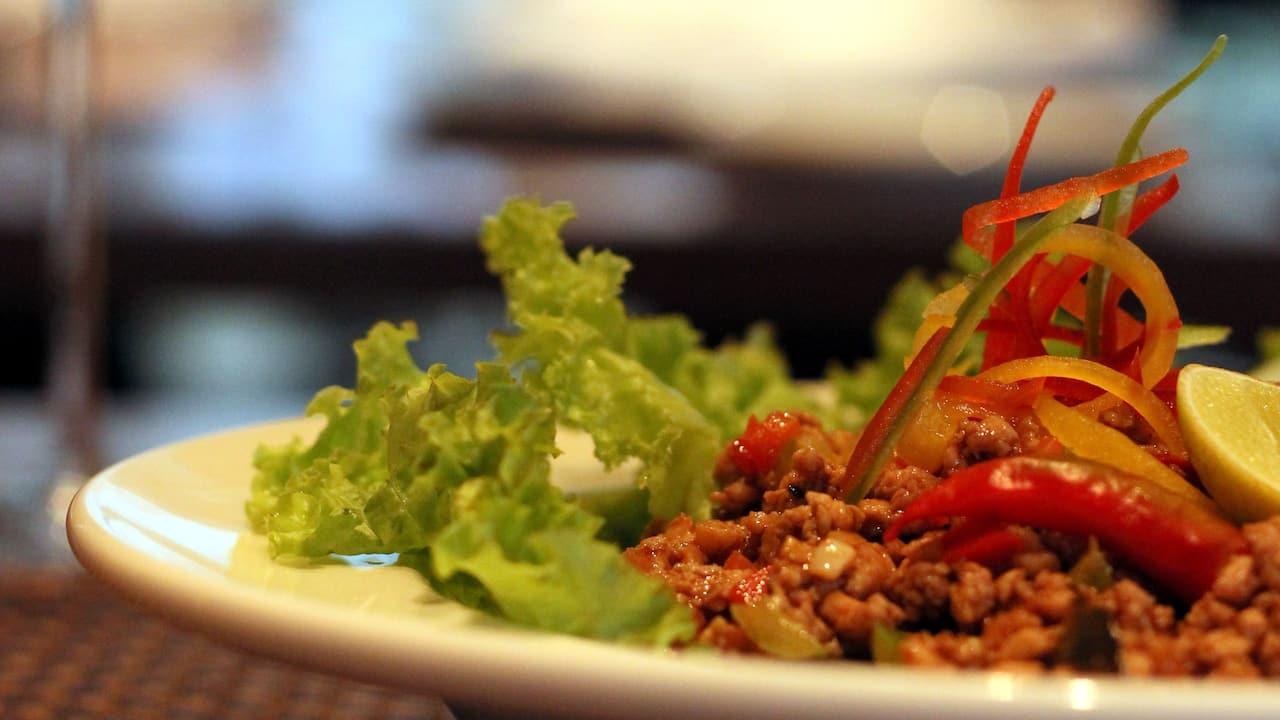 Prawn Salad with Wine Glass