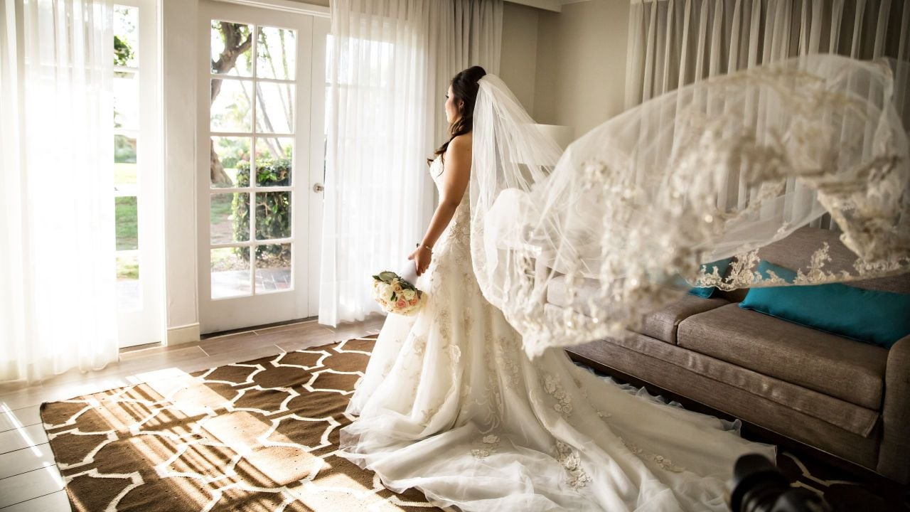 Hyatt Regency Newport Beach Wedding Bride