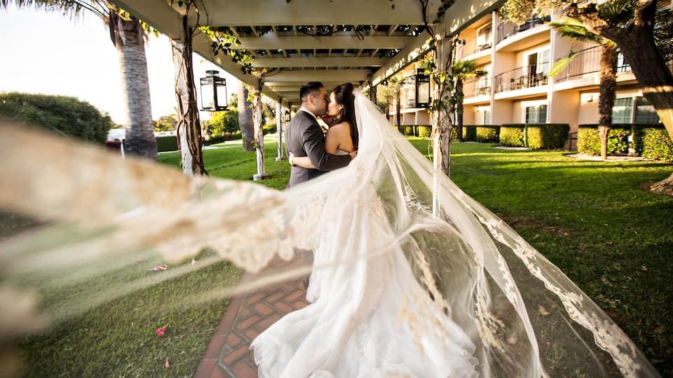 Hyatt Regency Newport Beach Bride and groom