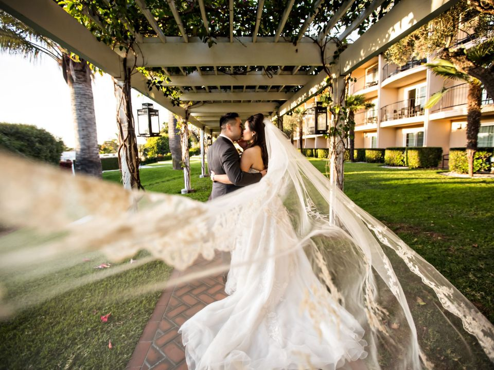 Hyatt Regency Newport Beach Bride and groom