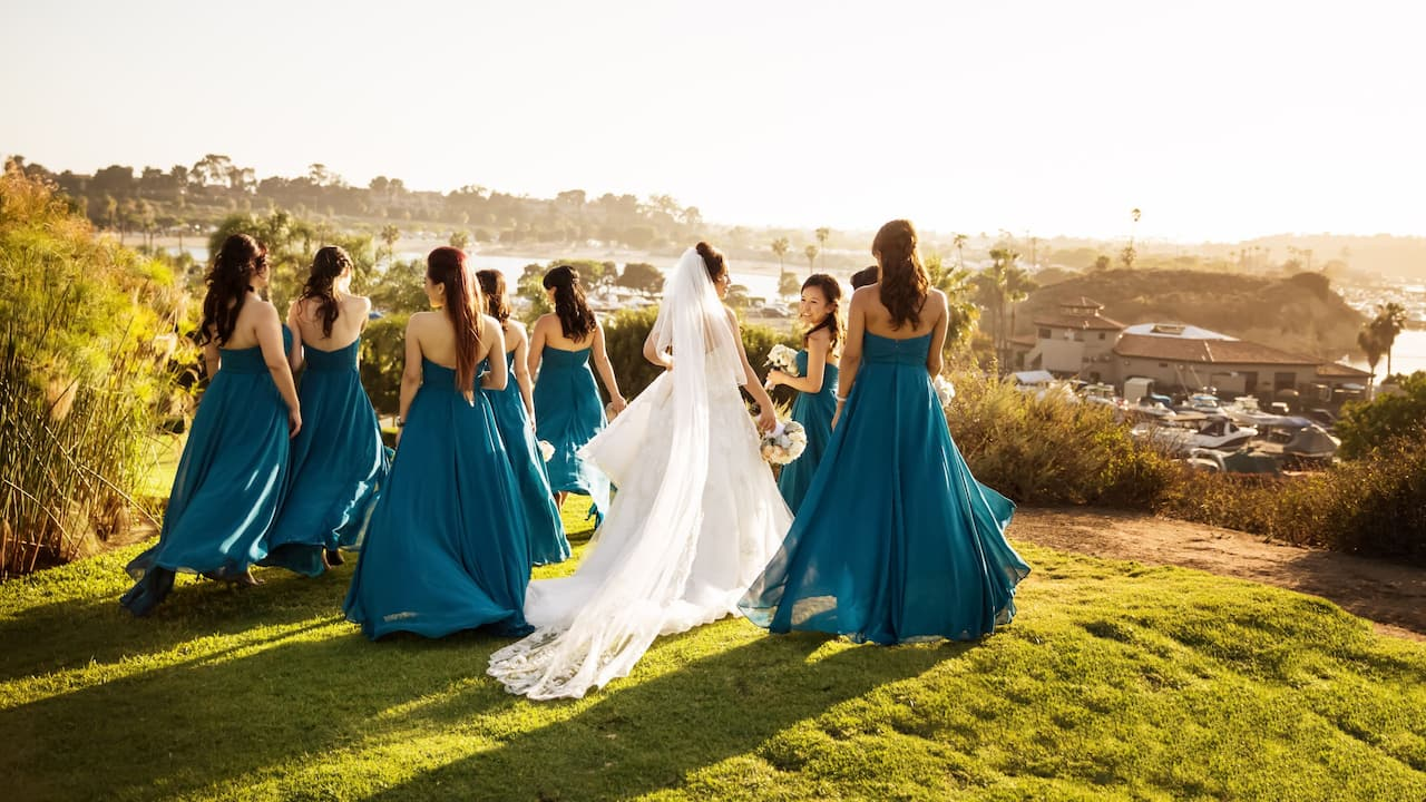Hyatt Regency Newport Beach Wedding Bridesmaids
