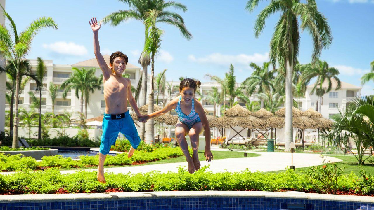 Hyatt Ziva Rose Hall | Kids Jumping in Pool