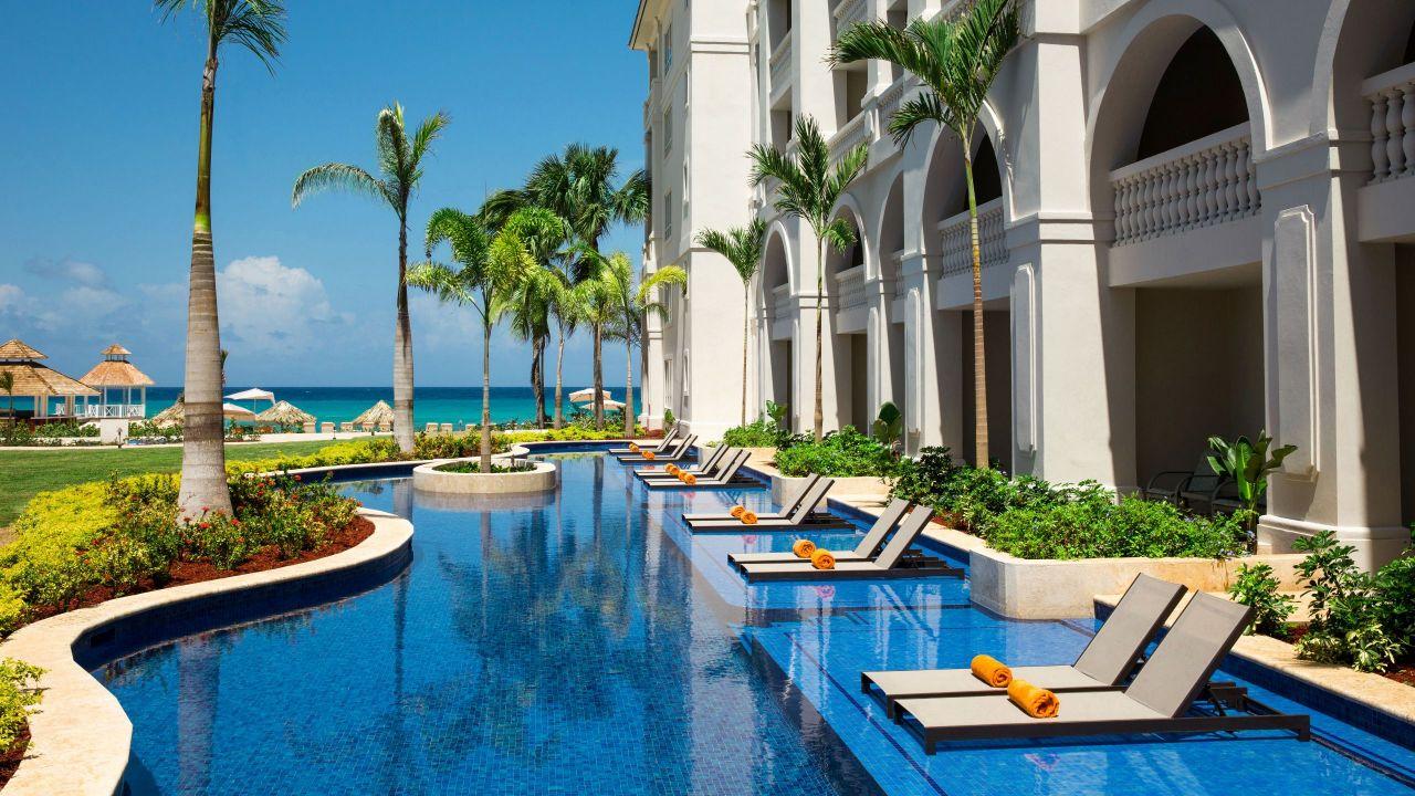 Poolside resort guestrooms