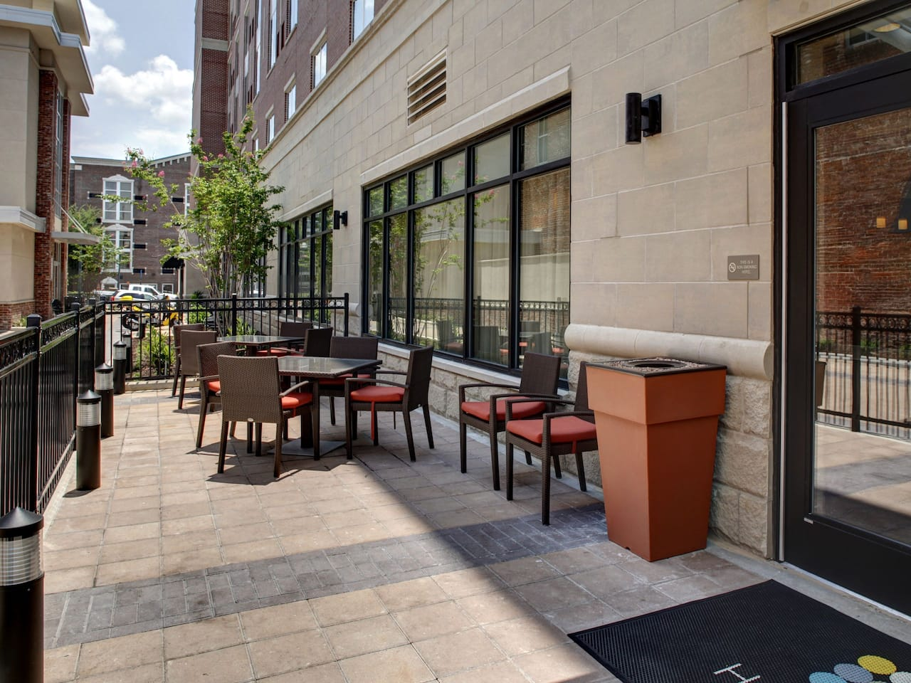 Outdoor patio at the Hyatt Place Columbia / Downtown / The Vista