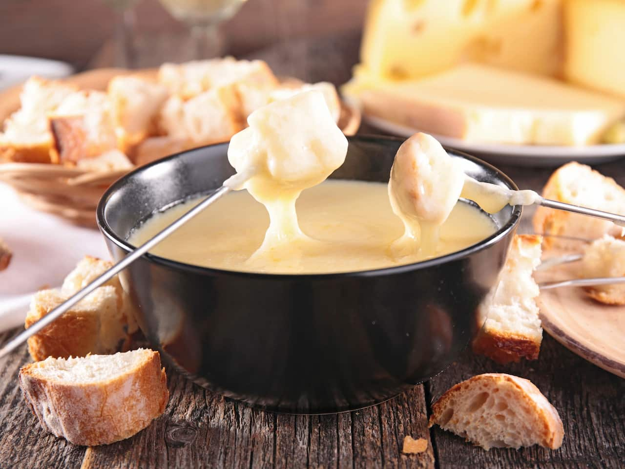 Cheese fondue at Gemütlich at Grand Hyatt Berlin