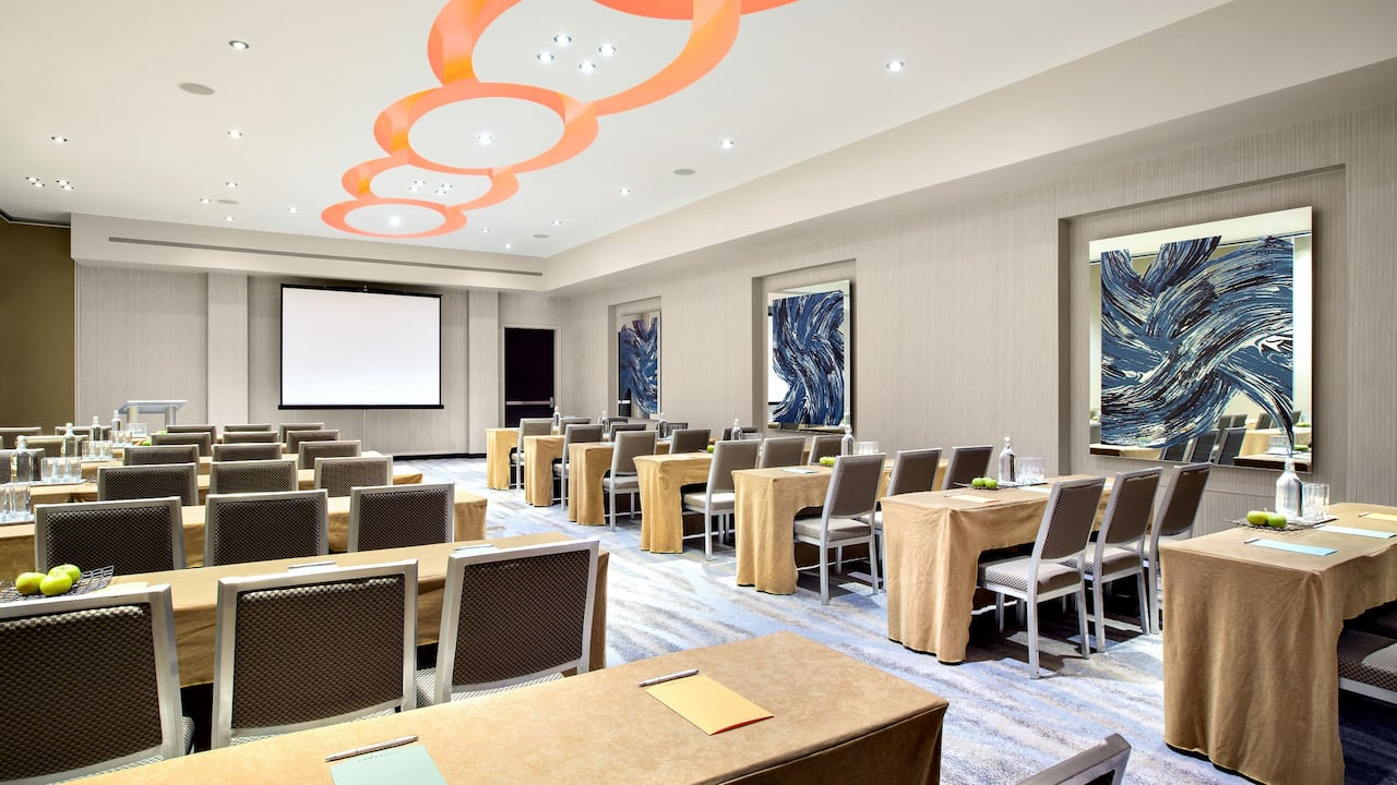 Andaz meeting room classroom set up