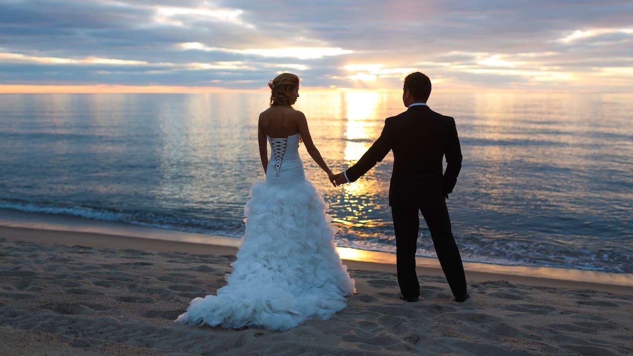 Sunset Couple on Beach
