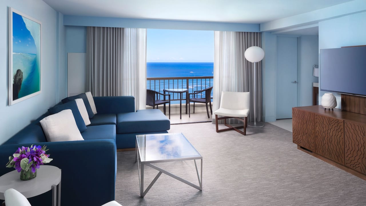 Ocean View Suites living room