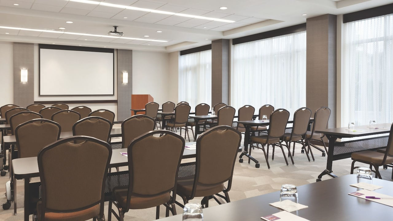 Meeting Space Classroom Setup