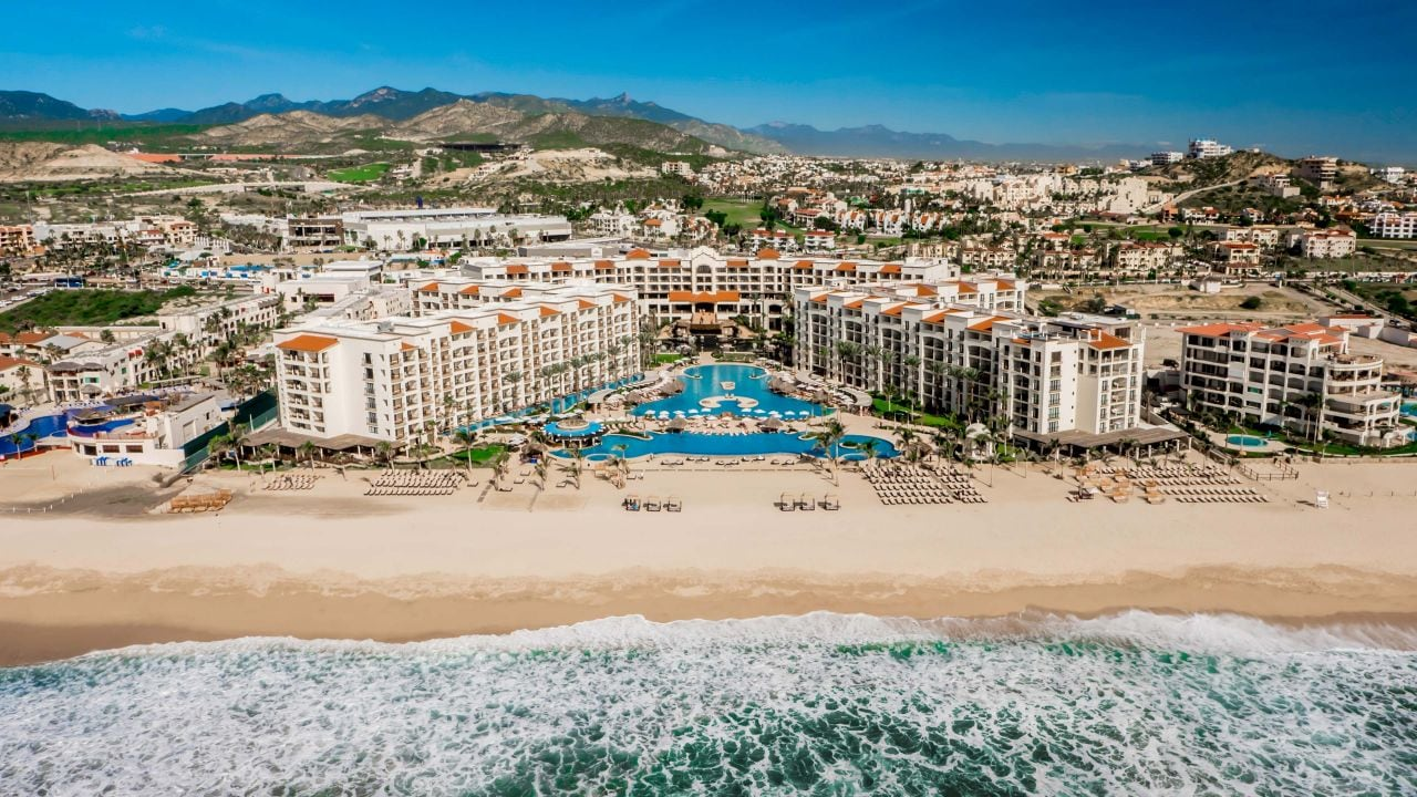 Hyatt Ziva Los Cabos Aerial View with Beach