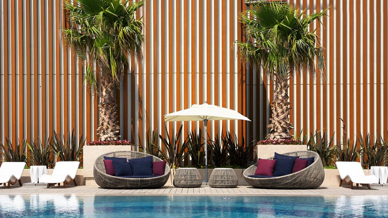 Pool Wicker Sofa