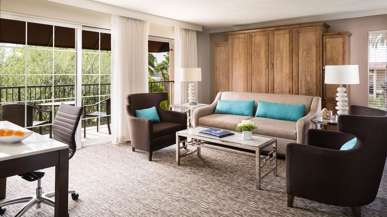 Hyatt Regency Newport Beach Suite Living Room
