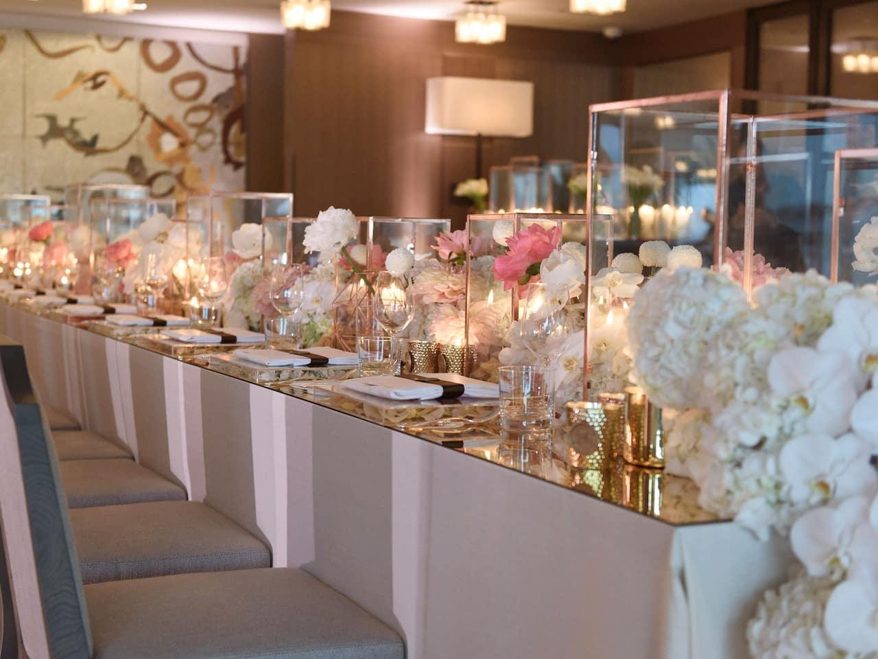 Wedding tables setup