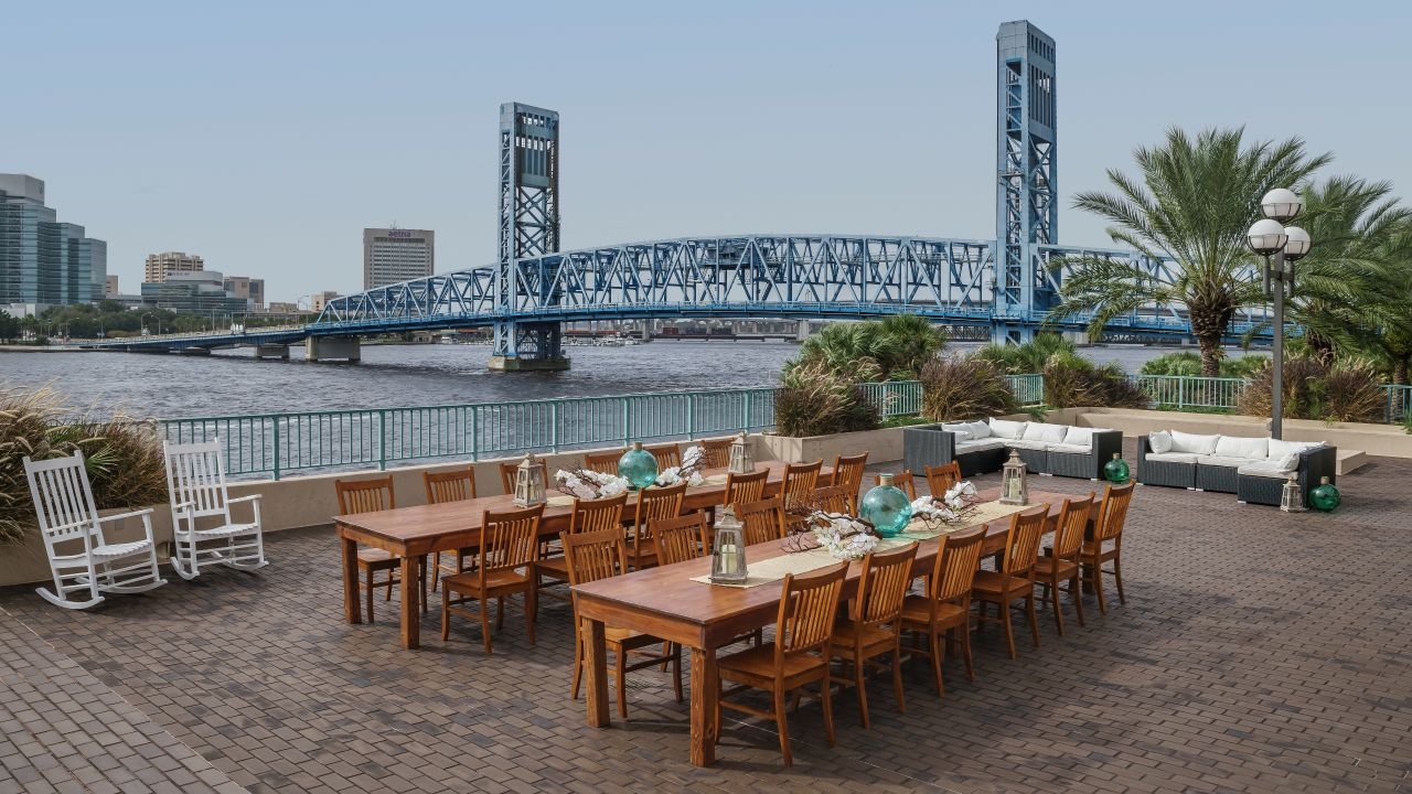 Outdoor event space on the St. John's River