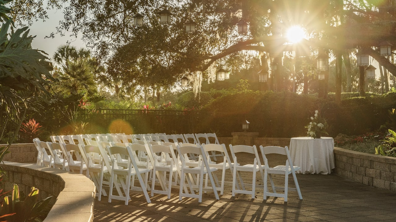 Hyatt Regency Grand Cypress Wedding Oak Terrace Ceremony