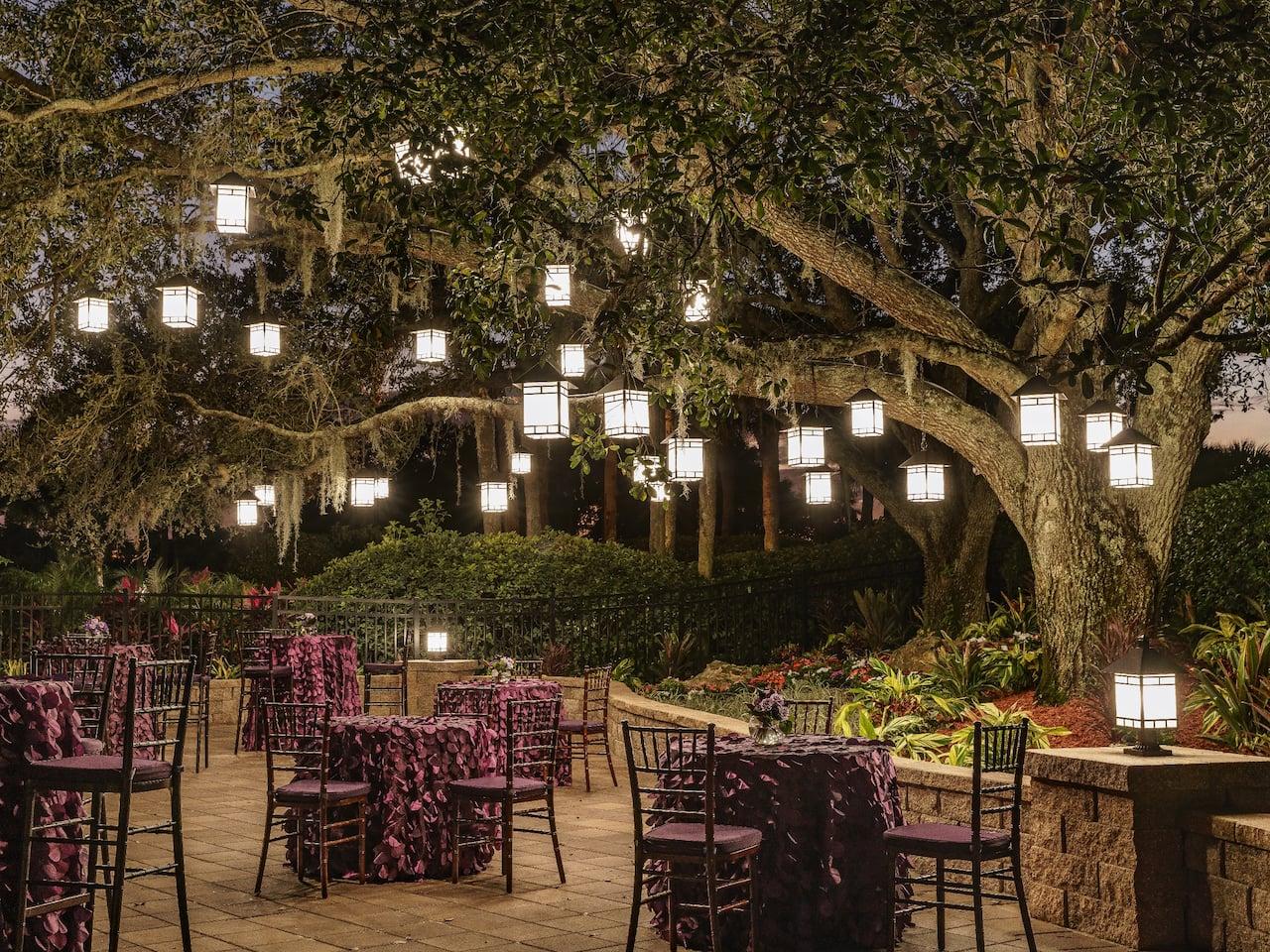 Hyatt Regency Grand Cypress Outdoor Wedding reception