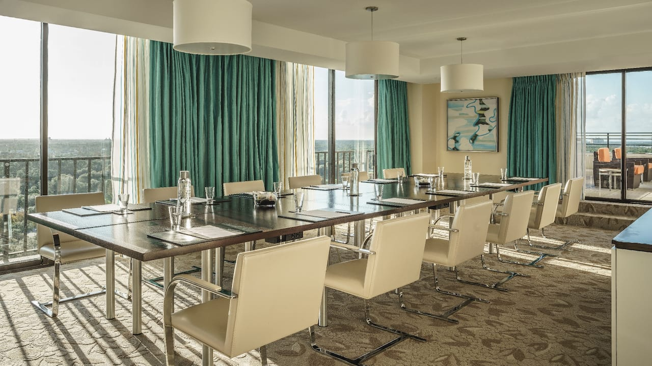 Hyatt Regency Grand Cypress Atrium Suite meeting
